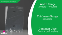 Watch a short video on 100% Recycled Clear Bags