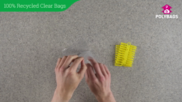 How to use 100% Recycled Clear Bags