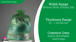 Watch a short video on 100%-recycled colour-tinted waste sacks