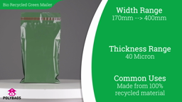 Watch a short video on 100% Recycled Green Biodegradable Mailing Bags