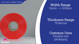 Watch a short video about our Pink Antistatic Layflat Tubing