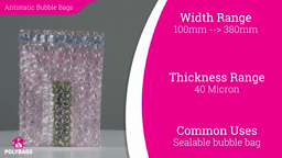 Watch a short video about our Pink Antistatic Bubble Bags With Sealing Strips