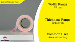 Watch a short video about our Barrier Warning Tape