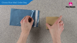 How to use Glossy Blue Mail Order Bags