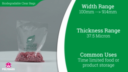 Watch a short video about our Biodegradable Clear Bags