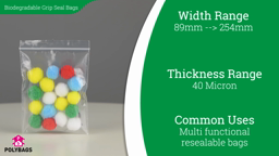 Watch a short video on Biodegradable Grip Seal Bags