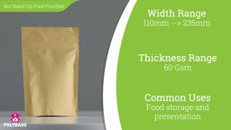 Watch a short video about our Brown Biopaper Stand-Up Food Pouches