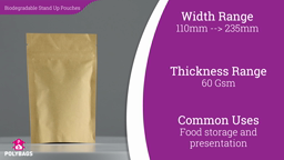 Watch a short video about our Brown Biopaper Stand-Up Pouches