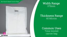 Watch a short video about our Biodegradable Starch Based Carrier Bags
