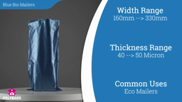 Watch a short video on Blue Biodegradable Mailing Bags