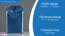 Watch a short video about our Best-Seller Glossy Blue Mailorder Bags