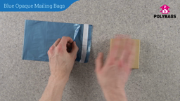How to use Blue Opaque Mailing Bags
