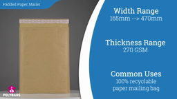 Watch a short video on Brown Padded Paper Mailers