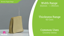 Watch a short video about our Brown Paper Bags