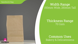 Watch a short video on brown paper sandwich bags with window