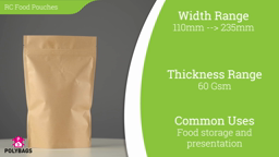 Watch a short video on brown paper stand-up pouches with window