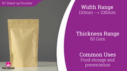 Watch a short video on brown recycled stand-up pouches with window
