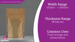 Watch a short video about our Polykraft Window Stand-Up Pouches
