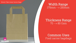 Watch a short video about our Brown Take Away Carrier bags