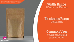 Watch a short video about our Polykraft Window Display Pouches