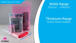 Watch a short video about our Bubble Bags With Sealing Strips