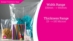 Watch a short video about our Budget Polythene Bags