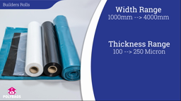 Watch a short video about our Builders Rolls (Wide Plastic Sheeting)
