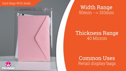 Watch a short video about our Premium Peel n' Seal Bags