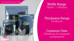 Watch a short video about our Static Shielding Bags (ESD bags)