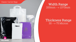 Watch a short video about our White & Black Carrier Bags