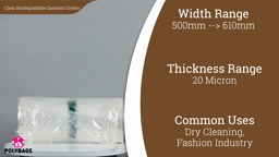 Watch a short video about our Clear Biodegradable Garment Covers (Polyrolls)