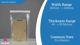 Watch a short video on Clear Biodegradable Mailing Bags