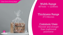 Watch a short video about our Clear Hercules Polymax Bags