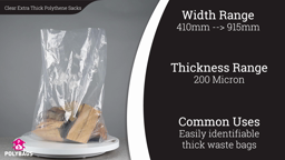 Watch a short video about our Clear Extra Thick Polysacks