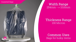Watch a short video on clear heavy-duty gusseted bags and liners