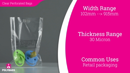 Watch a short video about our Safety Perforated Bags