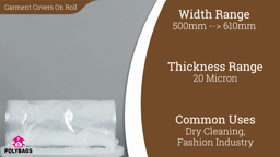 Watch a short video about our Clear Polythene Garment Covers (Polyrolls)