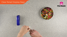 How to use Clear Retail Display Bags
