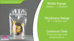 Watch a short video about our Clear Stand-Up Food Pouches