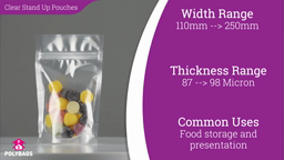 Watch a short video about our Clear Stand-Up Pouches