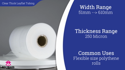 Watch a short video about our Clear Super Layflat Tubing (1000g)