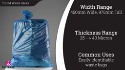Watch a short video on Colour and Tinted Waste Sacks (100%-Recycled)