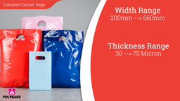 Watch a short video about our Classic Coloured Carrier Bags