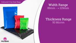 Watch a short video about our Coloured Grip Seal Bags