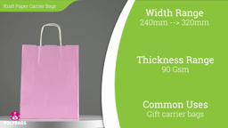 Watch a short video about our Coloured Kraft Carrier bags