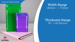 Watch a short video about our Coloured Mailing Bags