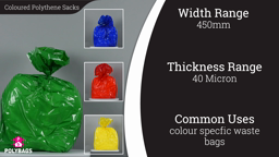 Watch a short video about our Coloured 100% Recycled Sacks