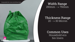Watch a short video about our Starch Based Biodegradable Bin Liners & Refuse Sacks