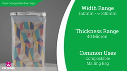 Watch a short video on Compostable Clear Mailing Bags