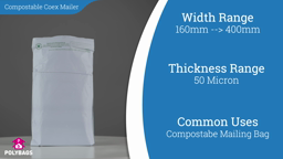 Watch a short video on Compostable Co-Ex Mailing Bags